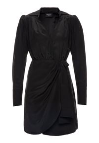 Czarna sukienka koktajlowa The Kooples wizytowa