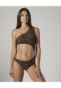 LISA MARIE FERNANDEZ - Strój jednoczęściowy Eugenie. Kolor: brązowy. Materiał: materiał. Wzór: nadruk, motyw zwierzęcy