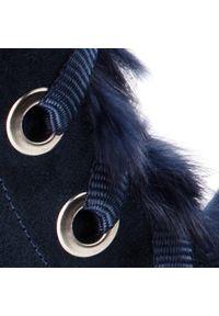 Niebieskie kozaki Zarro z cholewką