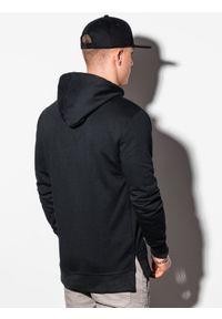 Ombre Clothing - Bluza męska z kapturem B1084 - czarna - XXL. Typ kołnierza: kaptur. Kolor: czarny. Materiał: poliester, bawełna