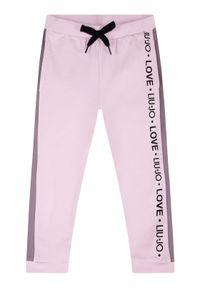 Różowe spodnie dresowe Liu Jo Kids