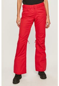 Różowe spodnie sportowe Roxy krótkie, snowboardowe