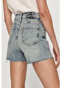 Niebieskie szorty Calvin Klein Jeans na co dzień, z podwyższonym stanem, casualowe, gładkie