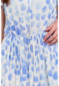 Marie Zélie - Sukienka Modena Altrix. Materiał: bawełna, wiskoza, materiał. Długość rękawa: krótki rękaw. Wzór: aplikacja. Długość: maxi