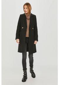 Czarny płaszcz Vero Moda casualowy, bez kaptura, na co dzień