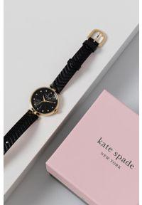 Kate Spade - Zegarek. Kolor: czarny. Materiał: skóra, materiał