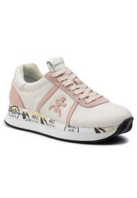 Beżowe buty sportowe Premiata z cholewką, na co dzień