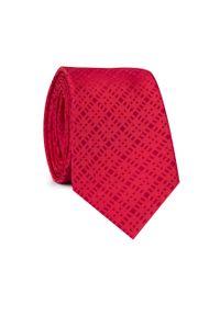 Czerwony krawat Giacomo Conti w kolorowe wzory, klasyczny