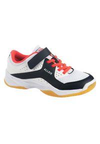 ALLSIX - Buty do siatkówki dla dzieci VS100 na rzep. Zapięcie: rzepy. Materiał: materiał. Sport: siatkówka