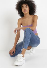 Born2be - Niebieskie Jeansy Skinny Galixixia. Kolor: niebieski