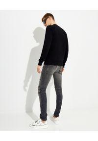 Balmain - BALMAIN - Czarna bluza z logo. Kolor: czarny. Materiał: dresówka, jeans, materiał, bawełna. Długość rękawa: długi rękaw. Długość: długie. Sezon: lato