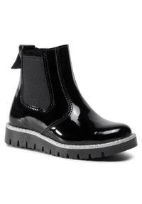 RenBut - Kozaki RENBUT - 22-3216 Czarny Lakier. Okazja: na spacer. Wysokość cholewki: za kostkę. Kolor: czarny. Materiał: lakier, skóra. Szerokość cholewki: normalna. Sezon: zima