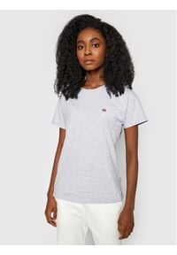 Napapijri T-Shirt Saliss NP0A4FAC Szary Regular Fit. Kolor: szary