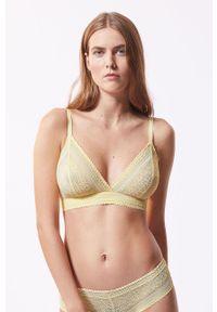 Etam - Biustonosz Sublime. Kolor: żółty. Rodzaj stanika: odpinane ramiączka