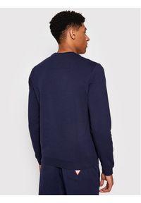 Guess Bluza M1RQ37 K6ZS1 Granatowy Slim Fit. Kolor: niebieski