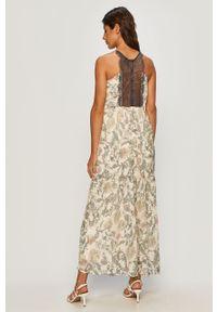 Kremowa sukienka Vero Moda na co dzień, w kwiaty, casualowa