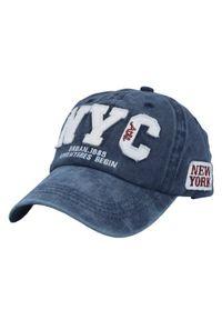 Niebieska czapka Pako Jeans z napisami, na lato