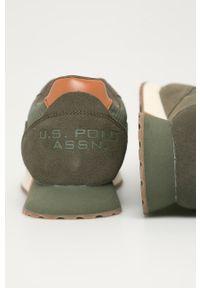 U.S. Polo Assn. - Buty. Zapięcie: sznurówki. Kolor: zielony. Materiał: guma, syntetyk, materiał, skóra, zamsz. Szerokość cholewki: normalna #3