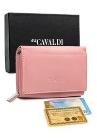 4U CAVALDI - Mały portfel damski różowy Cavaldi RD-02-GCL SALMON. Kolor: różowy