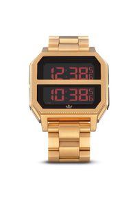 Złoty zegarek Adidas casualowy