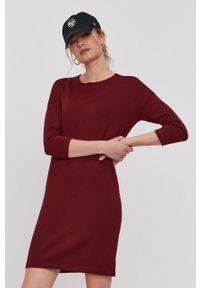 Brązowa sukienka Vero Moda dopasowana, gładkie