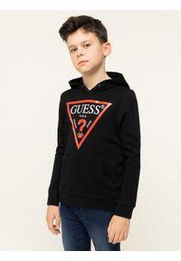 Guess Bluza L92Q09 K5WK0 Czarny Regular Fit. Kolor: czarny