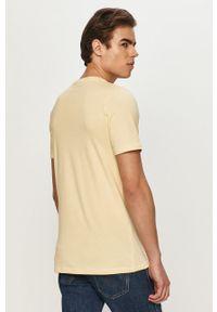 Żółty t-shirt Jack & Jones casualowy, z nadrukiem, na co dzień #5