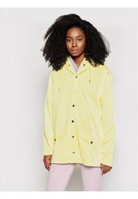 Żółta kurtka przeciwdeszczowa Rains na co dzień, casualowa