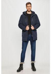 Niebieska kurtka Cross Jeans z kapturem, na co dzień, casualowa