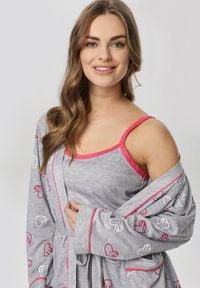 Born2be - Szaro-Różowa Koszula Nocna Salaleora. Kolor: szary #6