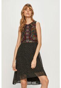 Czarna sukienka Desigual mini, casualowa, na co dzień
