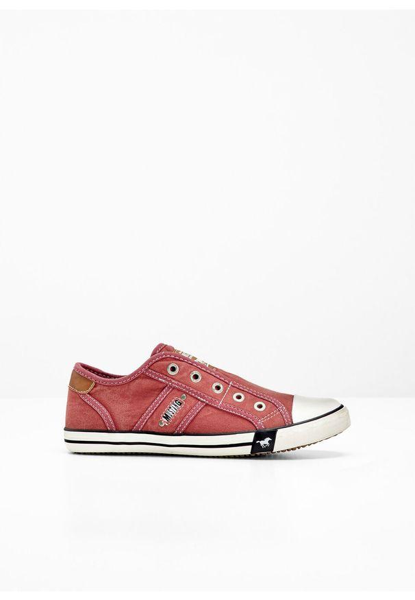 Czerwone buty sportowe bonprix bez zapięcia