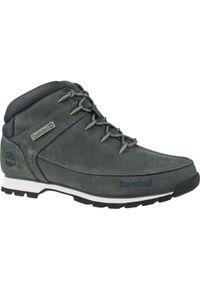 Czarne buty trekkingowe Timberland na zimę, w kolorowe wzory, do biegania, z cholewką