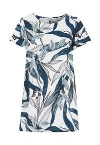 Cellbes Wzorzysta tunika niebieski we wzory female niebieski/ze wzorem 42/44. Kolor: niebieski. Materiał: tkanina, materiał. Długość rękawa: krótki rękaw. Długość: krótkie