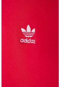 Różowa bluza rozpinana adidas Originals na co dzień, casualowa, raglanowy rękaw, z aplikacjami