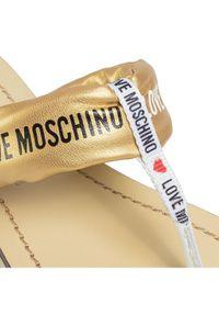 Złote japonki Love Moschino