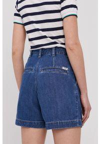 Wrangler - Szorty jeansowe. Kolor: niebieski. Materiał: jeans