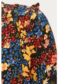 Czarna sukienka only midi, w kwiaty