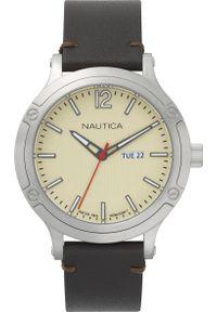 Brązowy zegarek Nautica