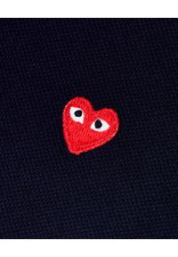 COMME DES GARCONS PLAY - Granatowa koszulka polo z sercem. Okazja: na co dzień. Typ kołnierza: polo. Kolor: niebieski. Materiał: jeans. Styl: klasyczny, elegancki, casual #3