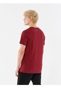 outhorn - T-shirt z nadrukiem męski. Materiał: bawełna, jersey, materiał. Długość rękawa: raglanowy rękaw. Wzór: nadruk