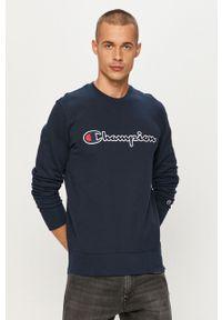 Niebieska bluza nierozpinana Champion casualowa, z okrągłym kołnierzem, na co dzień