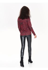 Czerwony sweter TOP SECRET na jesień, casualowy