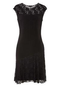 Czarna sukienka bonprix na imprezę, elegancka