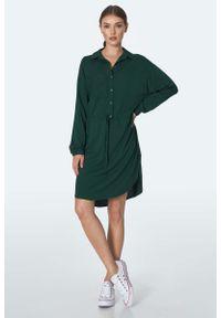 Zielona sukienka Nife koszulowa