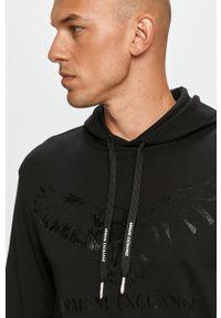 Czarna bluza nierozpinana Armani Exchange z kapturem, na co dzień