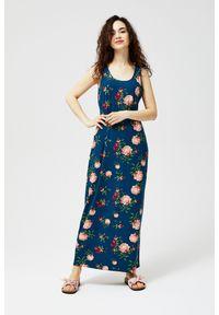 MOODO - Sukienka maxi w kwiaty. Wzór: kwiaty. Długość: maxi