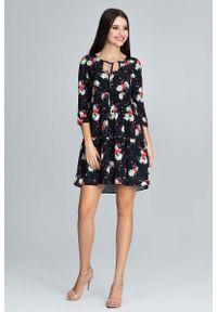 Sukienka z falbanami Figl z falbankami, w kwiaty