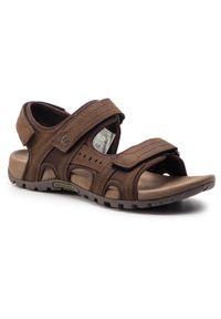 Brązowe sandały trekkingowe Merrell na lato