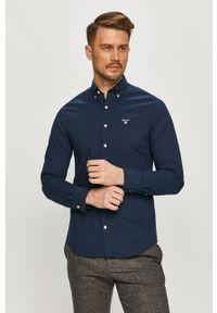 Niebieska koszula GANT button down, na co dzień, casualowa, długa